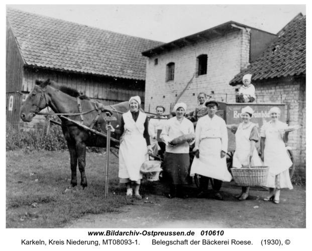Karkeln, Belegschaft der Bäckerei Roese