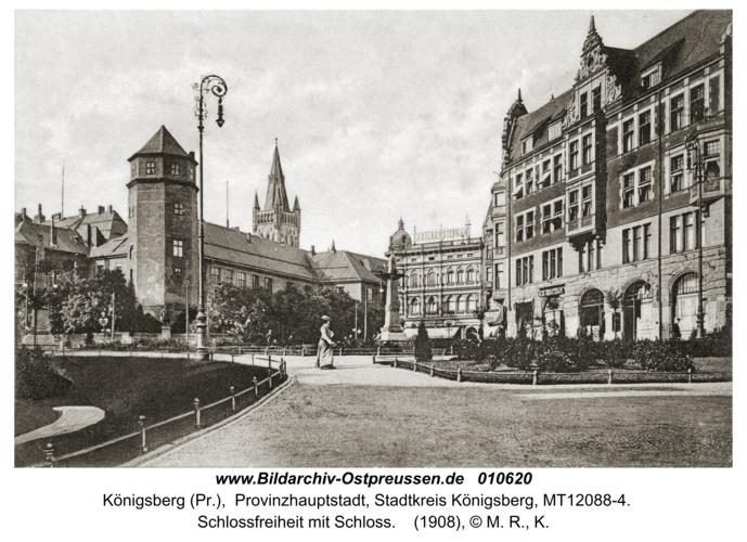 Königsberg, Schloßfreiheit mit Schloß