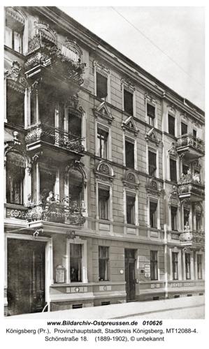 Königsberg, Haus in der Schönstraße