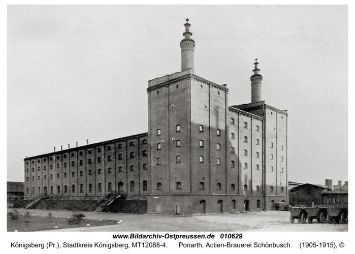 Königsberg, Ponarth, Actien-Brauerei Schönbusch