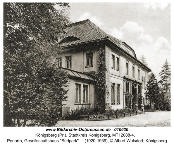 "Königsberg, Ponarth, Gesellschaftshaus ""Südpark"""