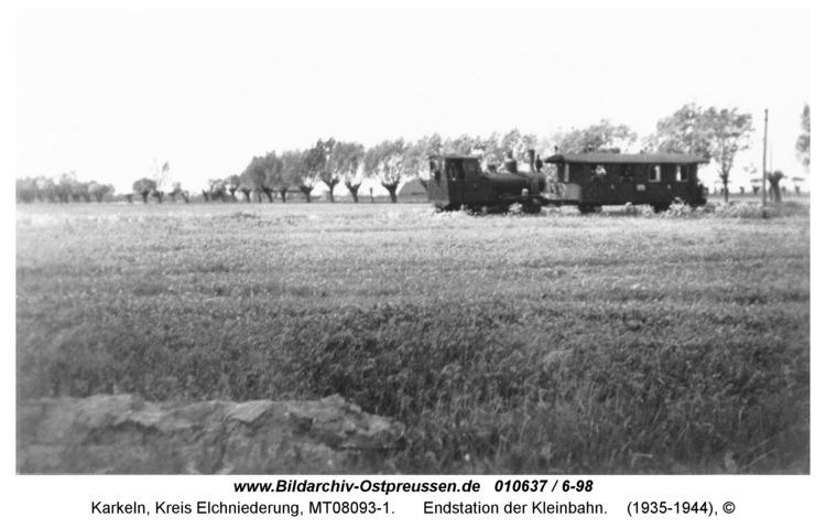 Karkeln, Endstation der Kleinbahn