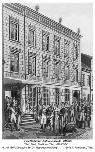 Tilsit, 6. Juli 1807, Deutsche Str. 24, Napoleon empfängt die Königin Luise
