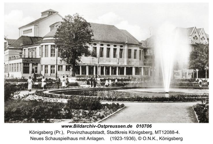 Königsberg, Neues Schauspielhaus mit Anlagen