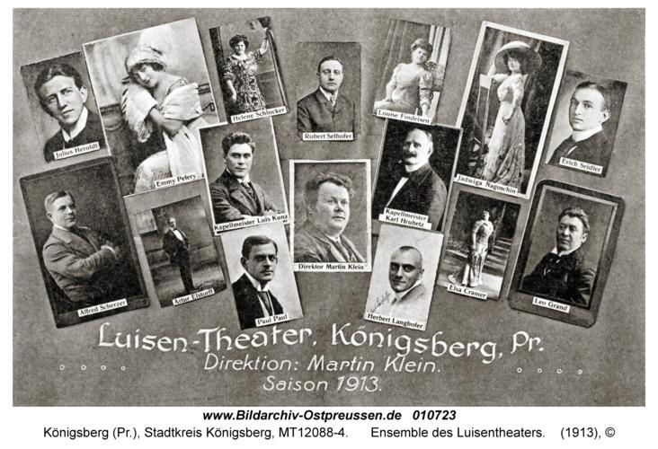 Königsberg, Ensemble des Luisentheaters