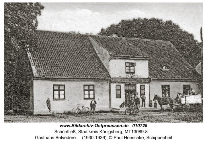 Schönfließ Stadtkreis Königsberg, Gasthaus Belvedere