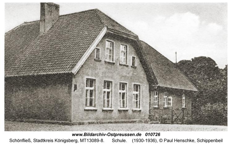 Schönfließ Stadtkreis Königsberg, Schule