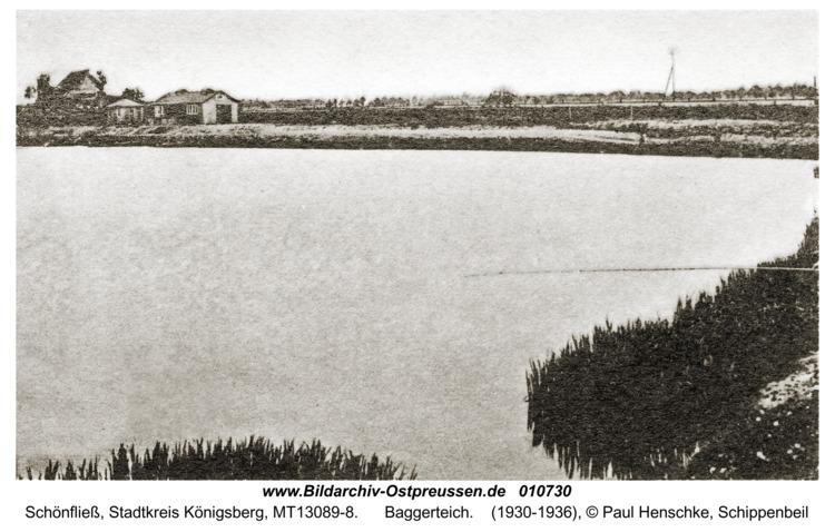 Schönfließ Stadtkreis Königsberg, Baggerteich