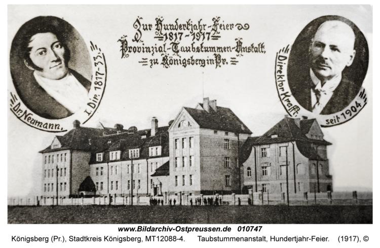 Königsberg, Taubstummenanstalt, Hundertjahr-Feier