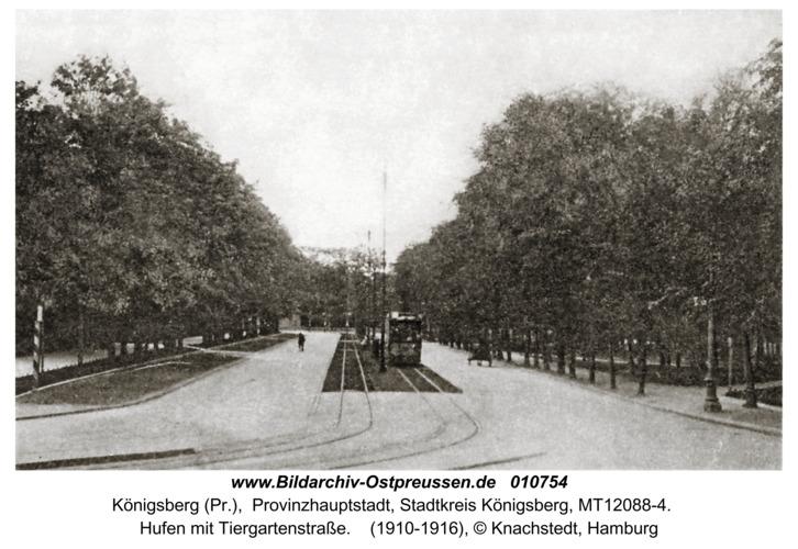 Königsberg, Hufen mit Tiergartenstraße