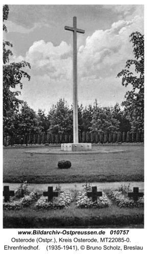 Osterode (Ostpr.), Ehrenfriedhof