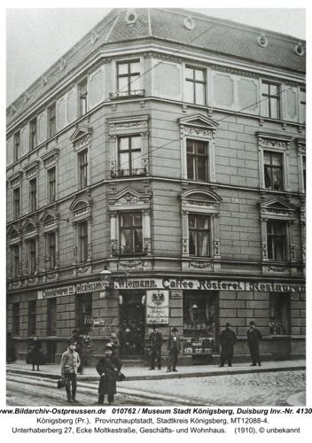 Königsberg, Unterhaberberg 27, Ecke Moltkestraße