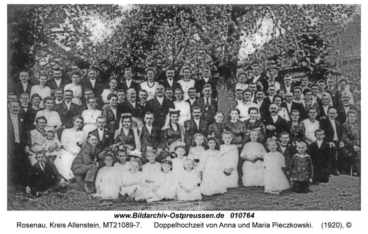 Rosenau Kr. Allenstein, Doppelhochzeit von Anna und Maria Pieczkowski