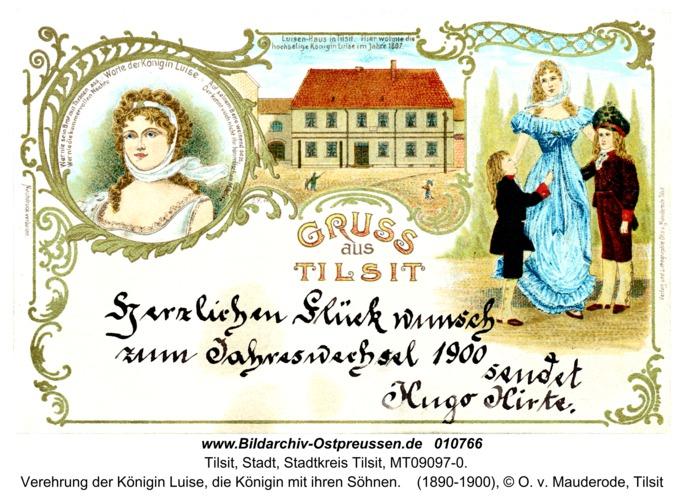 Tilsit, Verehrung der Königin Luise, die Königin mit ihren Söhnen