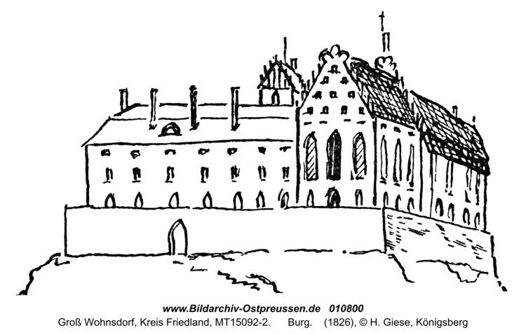 Groß Wohnsdorf, Burg