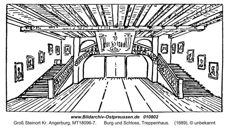 Groß Steinort, Burg und Schloss, Treppenhaus