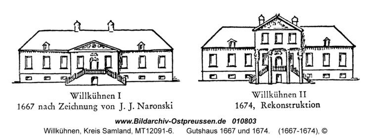 Willkühnen, Gutshaus 1667 und 1674
