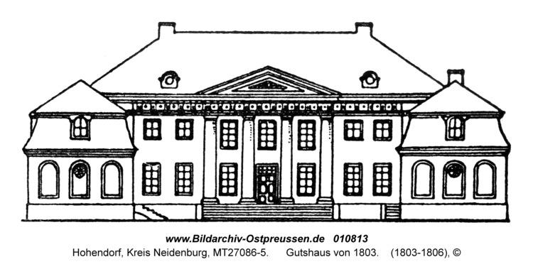 Hohendorf, Gutshaus von 1803
