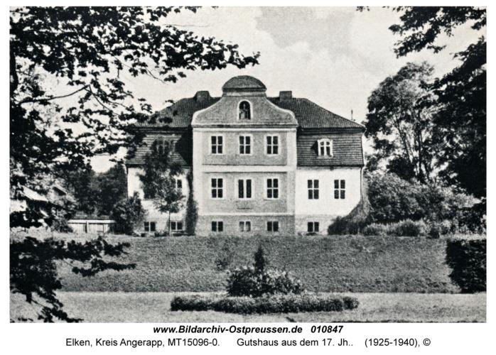 Elken fr. Elkinehlen, Gutshaus aus dem 17. Jh.