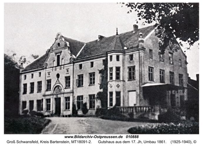 Groß Schwansfeld, Gutshaus aus dem 17. Jh, Umbau 1861