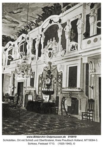 Schlobitten, Schloss, Festsaal 1713