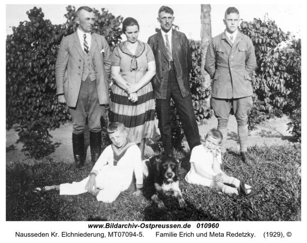 Nausseden Kr. Elchniederung, Familie Erich und Meta Redetzky