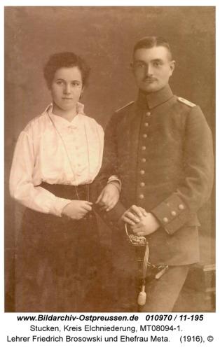 Stucken, Lehrer Friedrich Brosowski und Ehefrau Meta