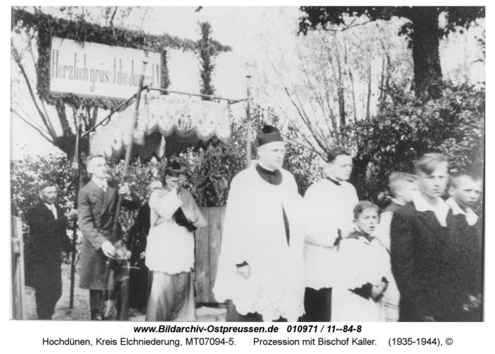 Hochdünen, Prozession mit Bischof Kaller