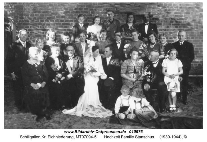 Schillgallen Kr. Elchniederung, Hochzeit Familie Stanschus