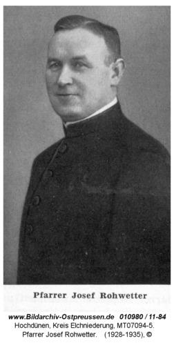 Hochdünen, Pfarrer Josef Rohwetter