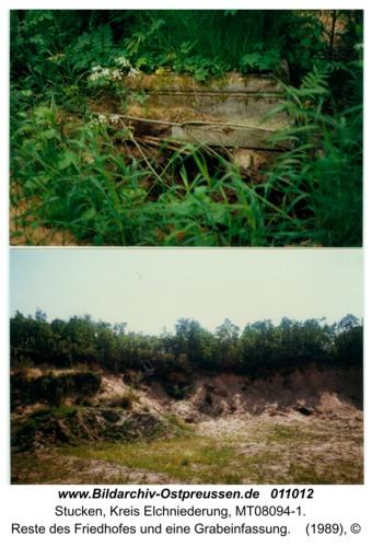 Stucken, Reste des Friedhofes und eine Grabeinfassung