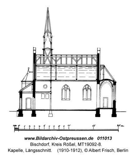 Bischdorf Kr. Rößel, Kapelle, Längsschnitt