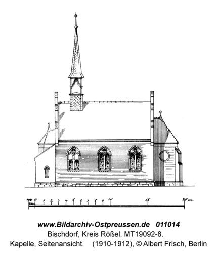 Bischdorf Kr. Rößel, Kapelle, Seitenansicht
