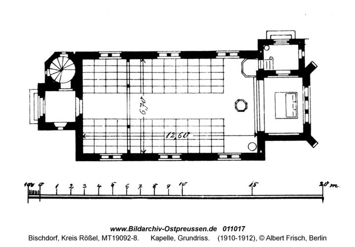 Bischdorf Kr. Rößel, Kapelle, Grundriss