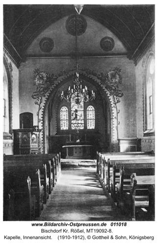 Bischdorf Kr. Rößel, Kapelle, Innenansicht