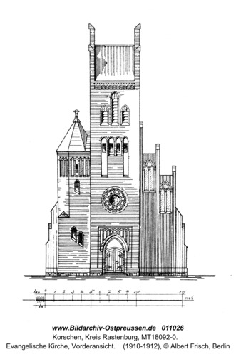 Korschen, Evangelische Kirche, Vorderansicht