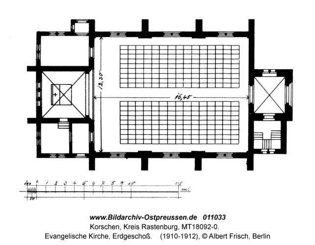 Korschen, Evangelische Kirche, Erdgeschoß
