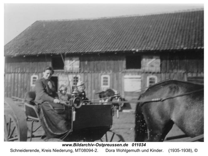 Schneiderende, Dora Wohlgemuth und Kinder