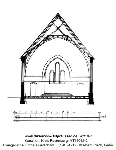 Korschen, Evangelische Kirche, Querschnitt