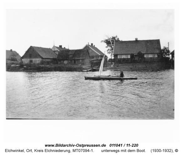 Elchwinkel, unterwegs mit dem Boot
