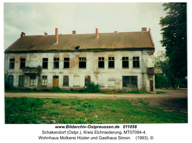 Schakendorf, Wohnhaus Molkerei Hüsler und Gasthaus Simon