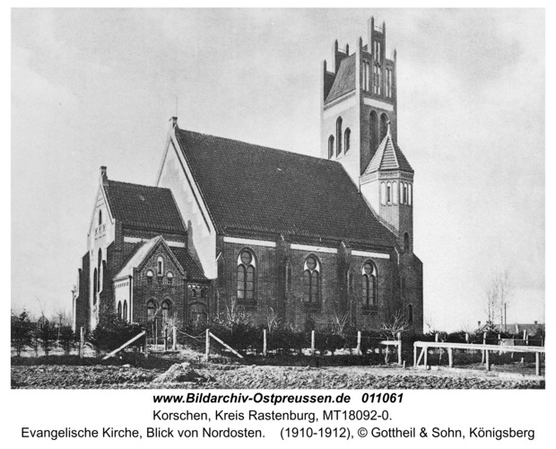Korschen, Evangelische Kirche, Blick von Nordosten