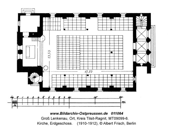 Groß Lenkenau, Kirche, Erdgeschoss