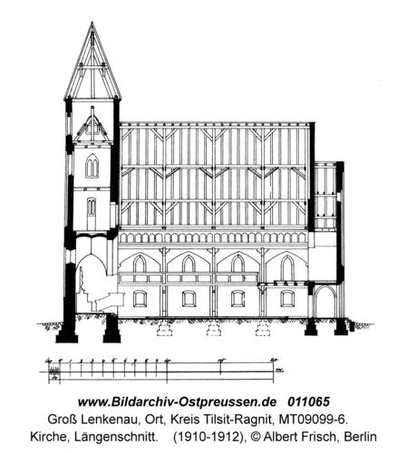Groß Lenkenau, Kirche, Längenschnitt