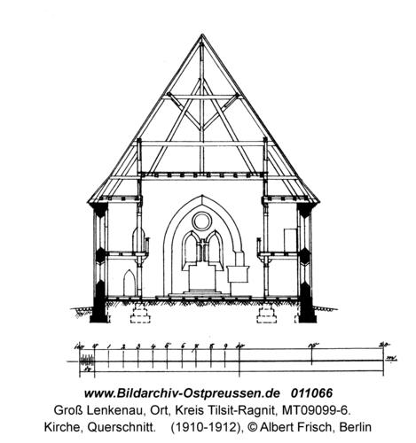 Groß Lenkenau, Kirche, Querschnitt