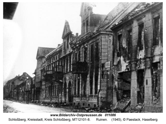 Schloßberg Kr. Schloßberg, Ruinen