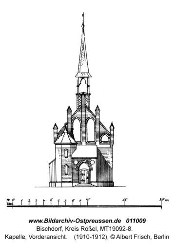 Bischdorf Kr. Rößel, Kapelle, Vorderansicht
