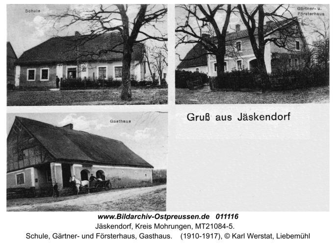 Jäskendorf, Schule, Gärtner- und Försterhaus, Gasthaus