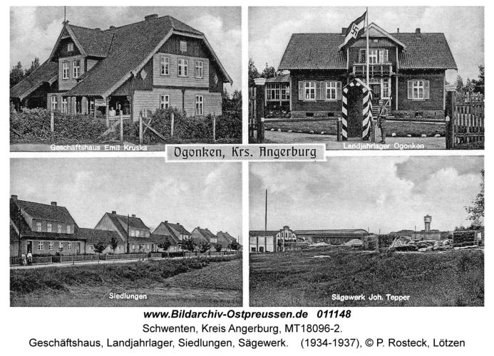 Schwenten, Geschäftshaus, Landjahrlager, Siedlungen, Sägewerk