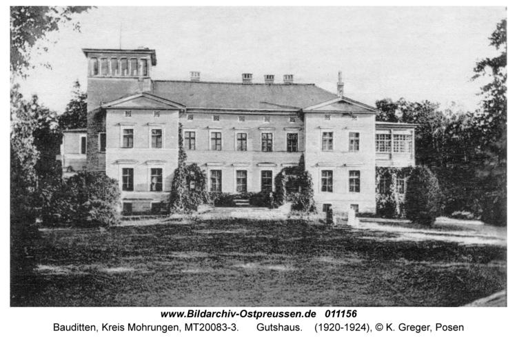 Bauditten, Gutshaus